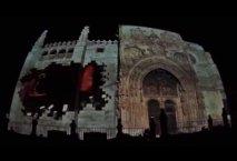 Mapping de la fachada de Santa María en Aranda de Duero